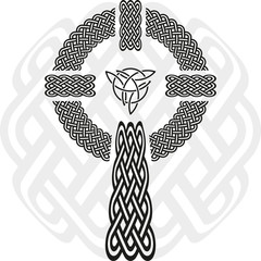 Celtic cross. The stylized image of a clover. Element of Scandinavian or Celtic ornament