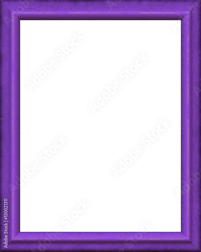 Purple vintage picture frame isolated on white background. Digital ...