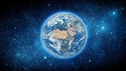 Wall Mural - Earth and stars. Elements of this image furnished by NASA.