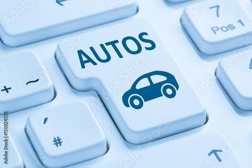 auto fahrzeug autos kaufen verkaufen online computer tastatur bl stockfotos und lizenzfreie. Black Bedroom Furniture Sets. Home Design Ideas