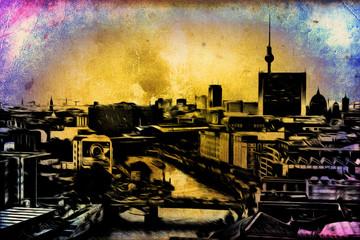 Berlin art vintage illustration