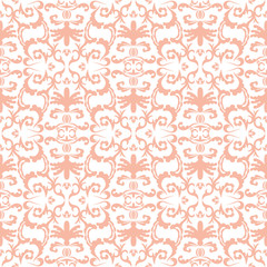 Damask seamless classic pattern. Vintage Baroque delicate background. Classic ornament for wallpapers, textile, fabric. Exquisite floral baroque template.