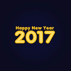 Happy new year 2017. Holiday Vector Illustration With Lettering Composition