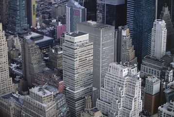 Aerial view of Manhattan skyscrapers, New York City, New York, USA, North America