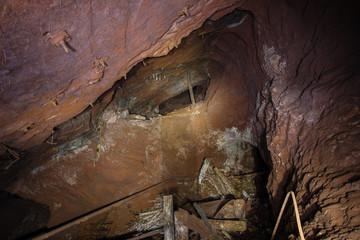 Undreground abandodned mine shaft cavity cave