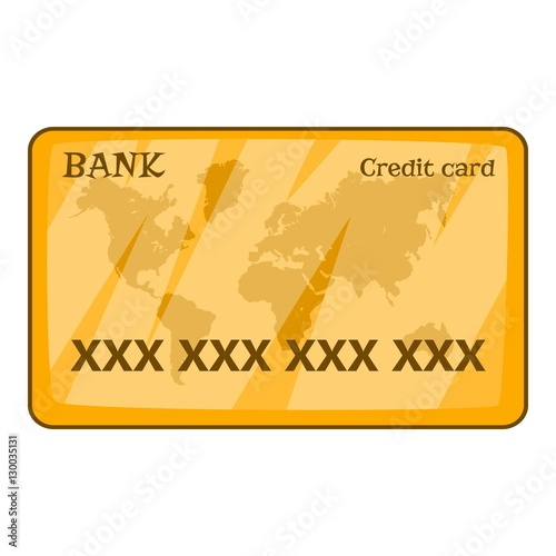 credit card icon cartoon illustration of credit card vector icon