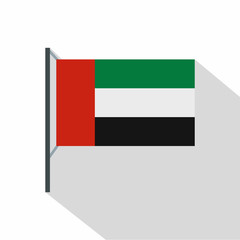 Dubai flag icon. Flat illustration of dubai flag vector icon for web