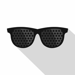 Bifocals icon. Flat illustration of bifocals vector icon for web