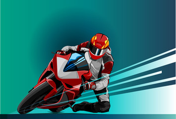 Vector illustration motor racing
