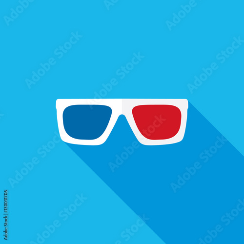 Flat 3d Glasses : Quot d glasses flat long shadow icon stock image and royalty