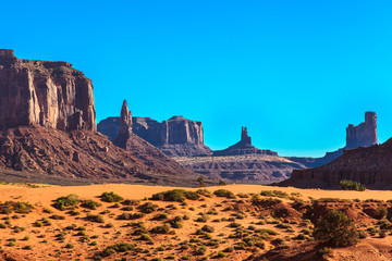 Rocky castles. Monument Valley