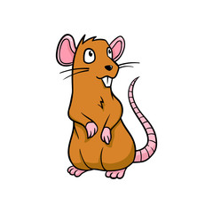 Cartoon Rat Vector Illustration