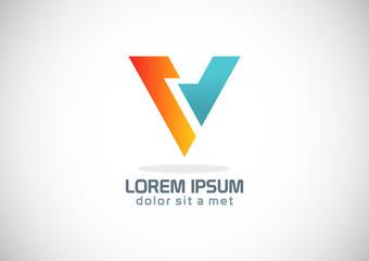 shape letter v colored logo