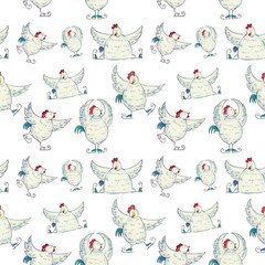 Петухи, птицы