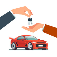 Buying, renting a new or used speedy sports car