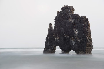 Hvitserkur rock formation, Vatnsnes peninsular, Iceland, Polar Regions