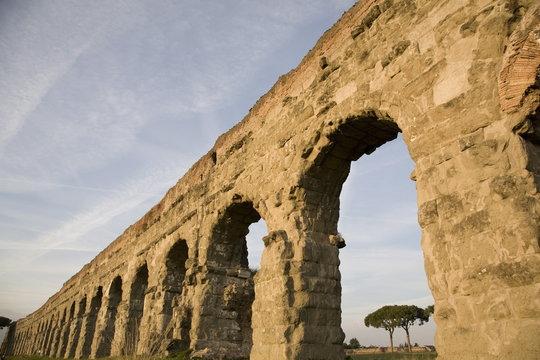 Claudian Aqueduct, the Appia road, Rome, Lazio