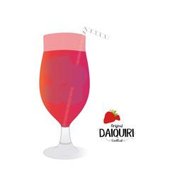 Original Daiquiri alcoholic cocktail illustration background