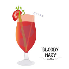 Bloody Mary alcoholic cocktail illustration background
