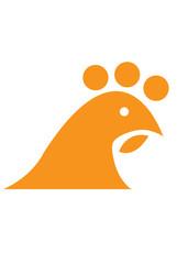 Chicken Vector Logo Abstract