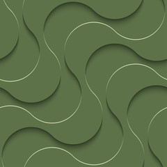 3D Seamless Pattern in Kale Color.