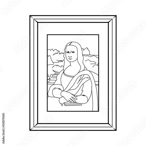Contour Line Drawing Of Mona Lisa : Quot mona lisa line drawing imagens e vetores de stock