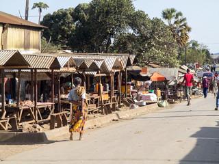 NORTHERN MADAGASCAR, OCTOBER 30.2016,  current image marketplace, northern Madagascar,  October 2. 2016