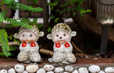 monkey clay dolls