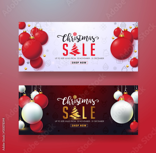 Christmas Sale Banner Template,Gift Card,Discount Voucher,Coupon