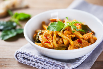 spicy chicken with bamboo shoots
