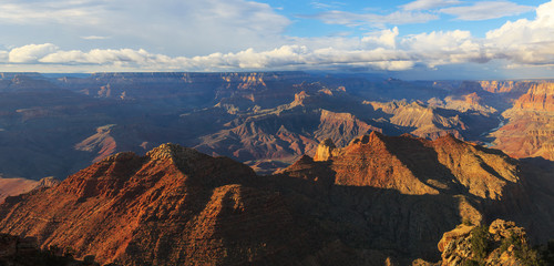 Awesome landscape of rock formation on the south rim of the Gran