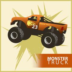 Vector monster truck