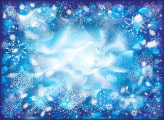 Snowy frozen background