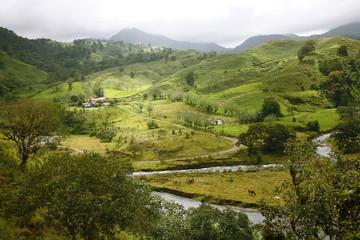 Mountain landscape in the region of Monteverde, Costa Rica, Central America