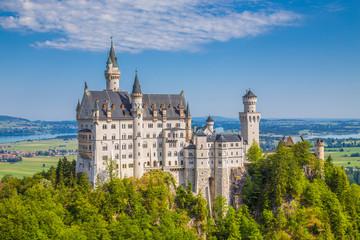 Classic view of Neuschwanstein Castle, Bavaria, Germany