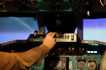 flight engineer switches on toggle
