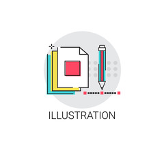 Illustration Creative Process Digital Design Vector Illustration