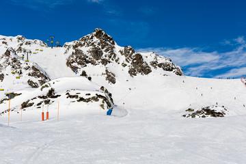 Ski slope in Austria
