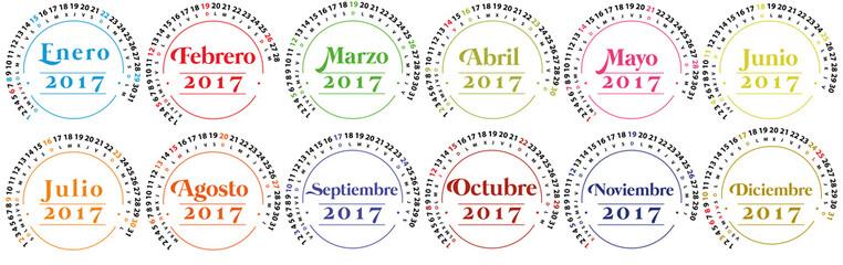 Calendario 2017 españa