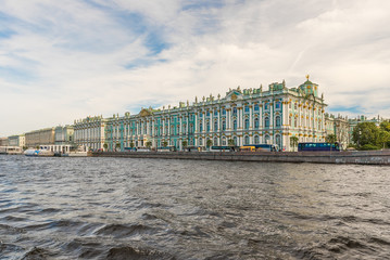 View of the Winter Palace, Hermitage Museum, St. Petersburg, Rus