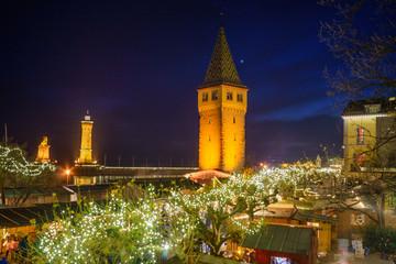 D, Bodensee, Bayern, Lindau, Hafen, Hafenweihnacht