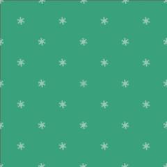 Green seemless snowflake pattern