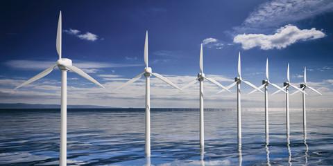 Wind generators. 3d illustration