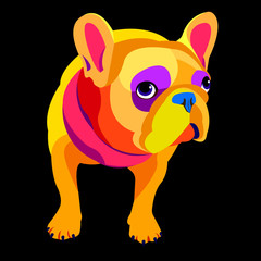 dog vector breed cute animal bulldog french