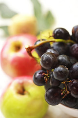 grapes and fresh fruit