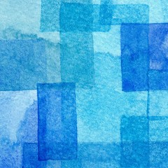 Abstract colorful ultramarine deep and blue watercolors hand paint background. Detail or closeup brush stroke texture.