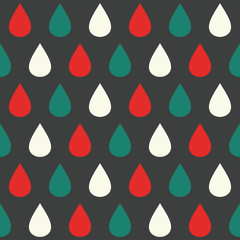 Colorful raindrops seamless pattern