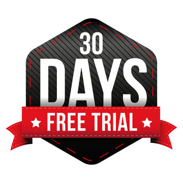 Thirty days free trial vector