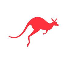 Vector icon red kangaroo