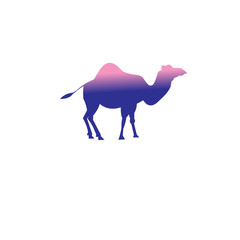 Vector icon of a camel